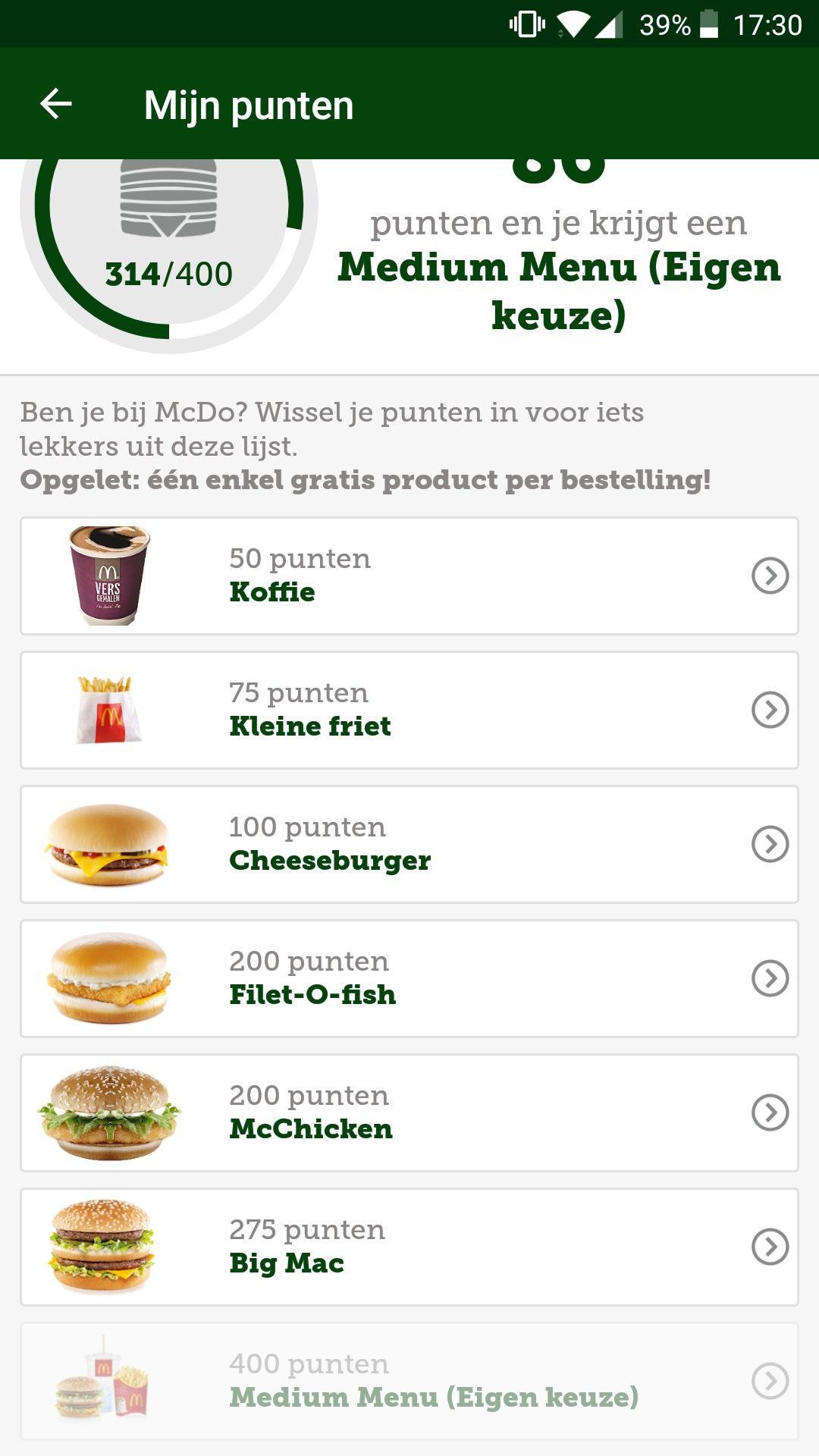 Mcdonald belgie coupons