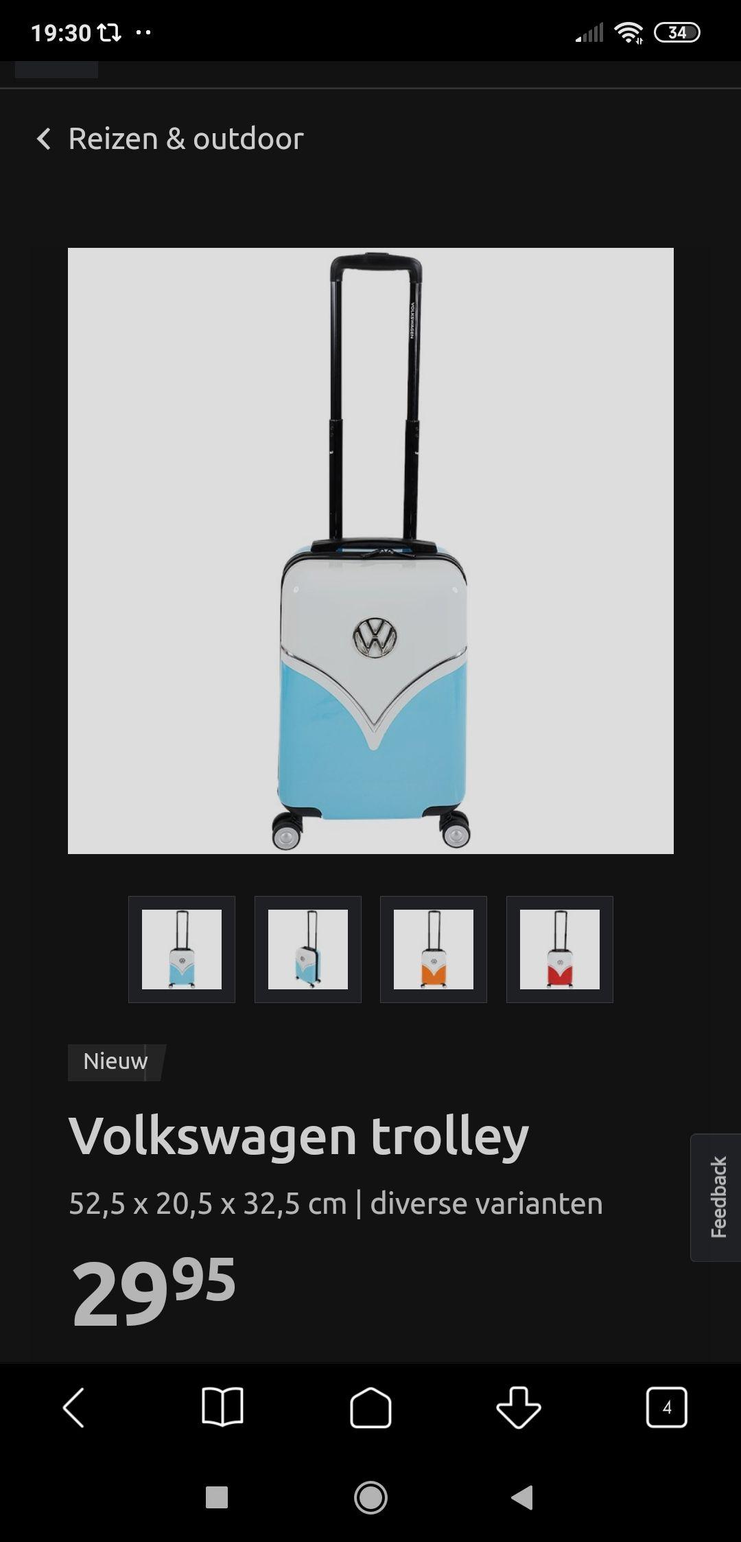 Tent met de afbeelding van een VW bus 3 pers. @Action