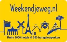 €12,50 korting @ Weekendjeweg