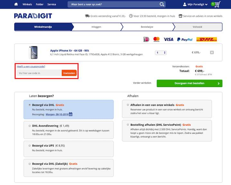Paradigit iPhone Xr kortingscode