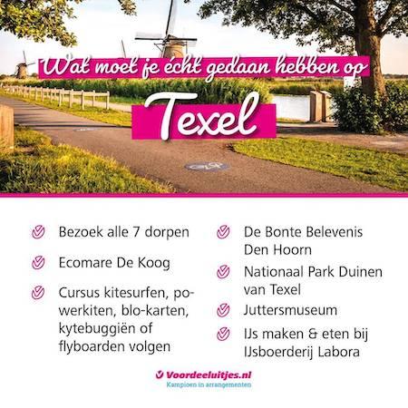 Voordeeluitjes Texel