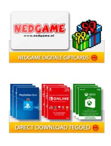 Nedgame gift card tegoed