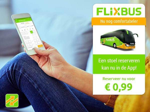 Flixbus stoel reserveren