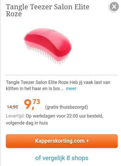 etos: tangle teezer - pepper