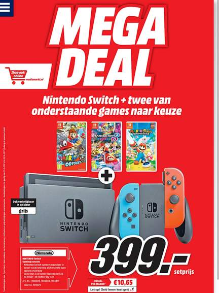 Megadeal Nintendo Switch Met 2 Games 399 At Mediamarkt Peppercom