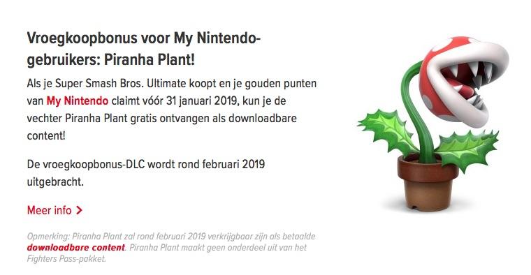 Super Smash Brothers Ultimate voor €54,99 met € 7,00 bonus eShop