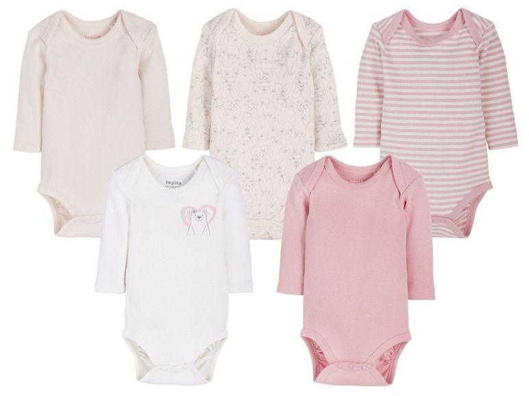 aa0203da0a8e LUPILU® 5 baby meisjes rompertjes ➡ €7