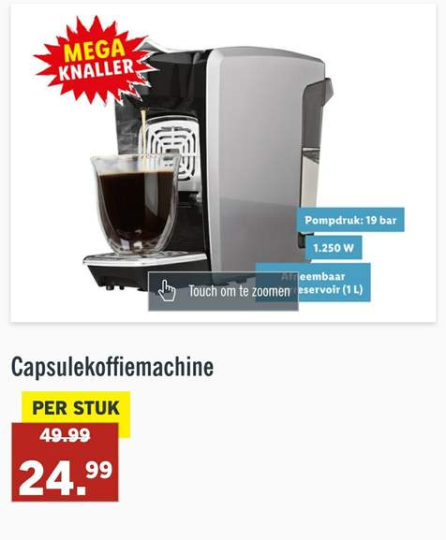 Capsule koffiemachine Nespresso