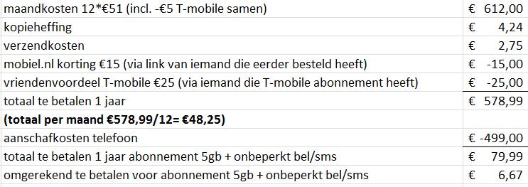 sms jarig Oneplus 5t 64gb icm 1 Jarig abbo 5gb +onb bellen/sms €578,99 jaar  sms jarig