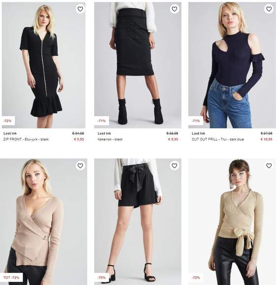 Zalando Dames Kleding.Lost Ink Dameskleding 68 72 Korting 20 Items Va 7 95 Zalando