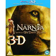 Chronicles of Narnia: Voyage of the Dawn Treader (3D Blu-ray) voor € 7,64 @ WOW HD