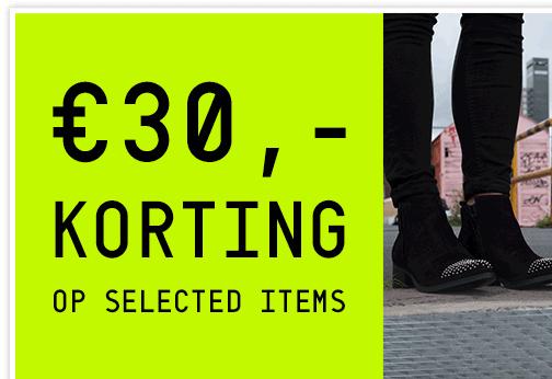 €30 korting op selectie schoenen - dames + heren - @ Invito