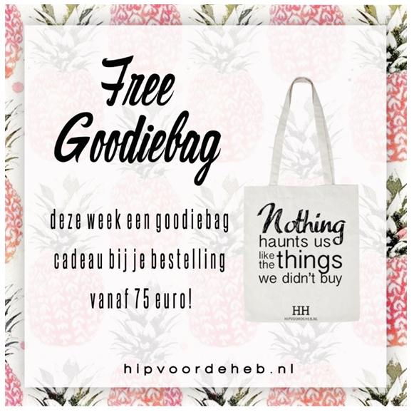 GRATIS goodiebag bij besteding vanaf €75 @ Hipvoordeheb