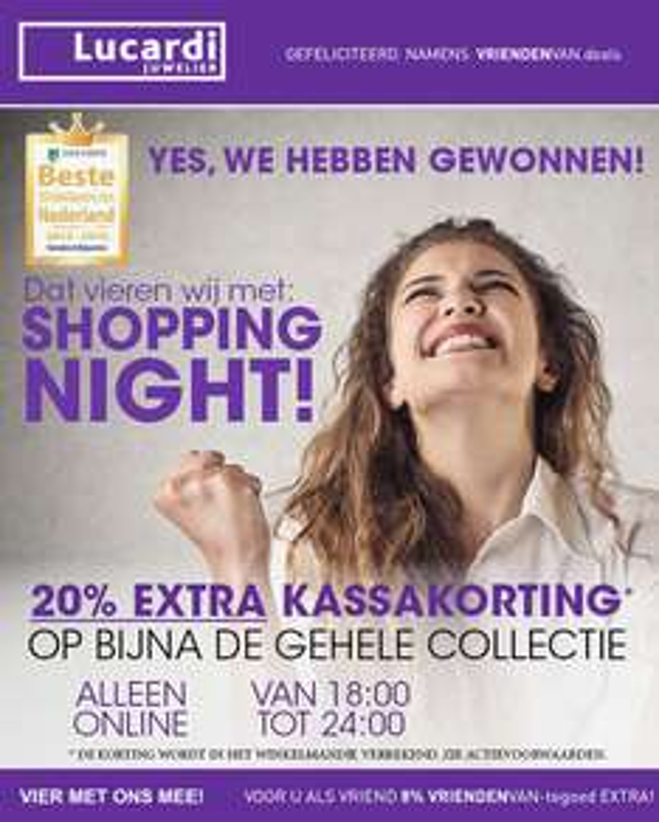 Alleen vanavond Shopping Night met 20% korting @ Lucardi