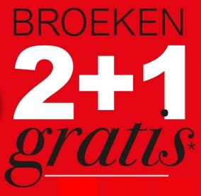 2+1 GRATIS op heel veel broeken - dames & heren - @ Duthler