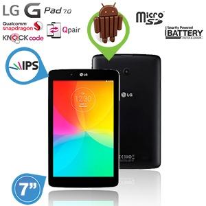 LG G Pad 7.0 tablet voor € 135,90 @ iBOOD