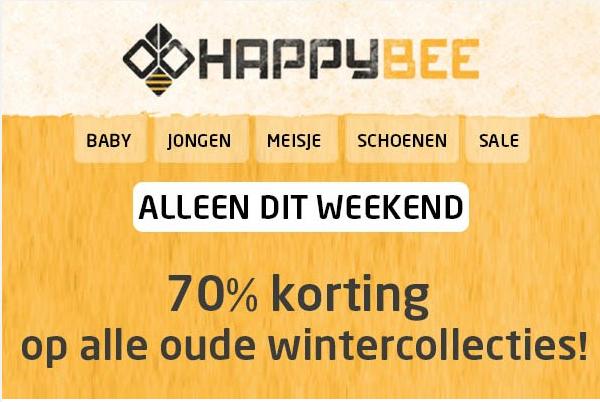 70% korting op sale / outlet kinder merkkleding @ Happybee