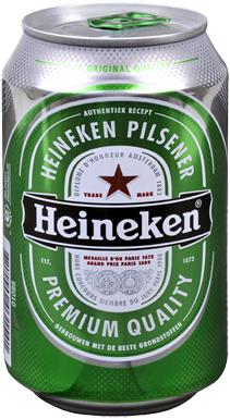 2 Blikken Heineken pilsener voor € 1 @ C100
