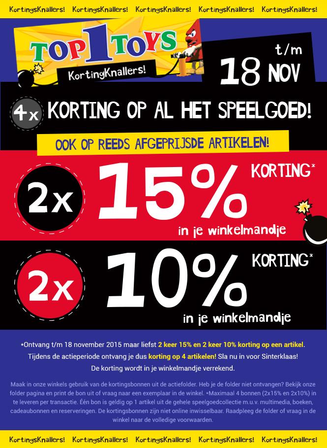 15% extra kassakorting @ Top1Toys