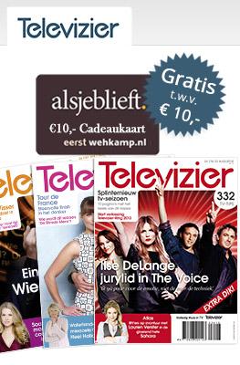 26  Weken de Televizier voor €10 met gratis €10 Wehkamp-cadeaukaart