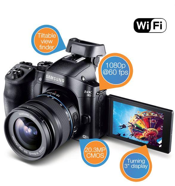 Samsung NX30 + Lenskit 18-55mm systeemcamera voor €556