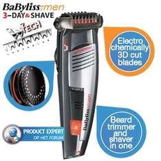 Babyliss For Men Baardtrimmer 3-Day & Shave voor €36 @ iBOOD