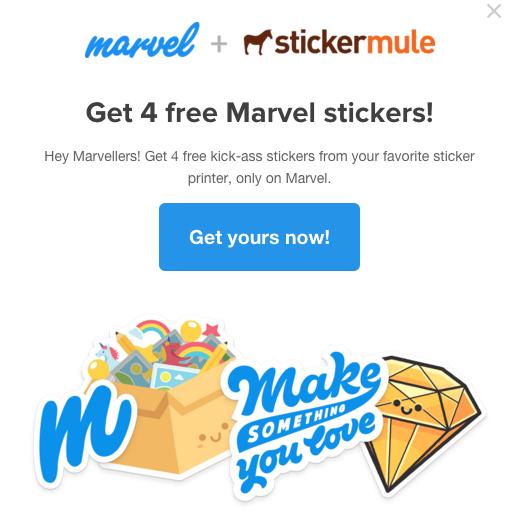Gratis Marvel Sticker pack @ StickerMule