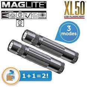 2 Maglite XL50 LED zaklampen voor €35,90 @ iBOOD