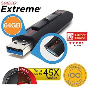SanDisk 64GB USB3.0-stick voor €37,90 @ iBOOD