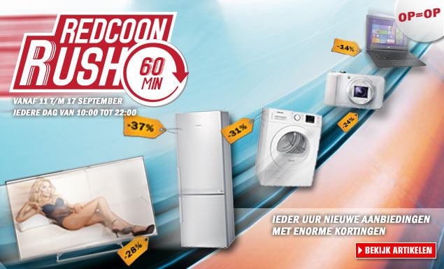 Redcoon Rush - elk uur nieuwe aanbiedingen