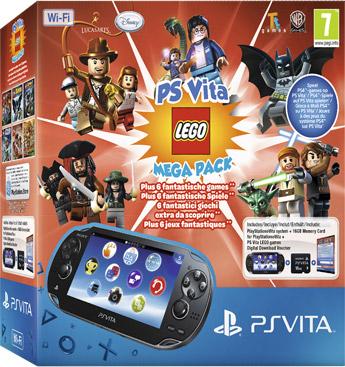 PS Vita Lego Mega Pack + 16 GB voor €161,99 @ Intertoys