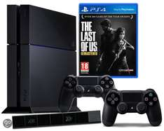 Sony PlayStation 4 Console 500GB + 2 Wireless Dualshock 4 Controllers + The Last Of Us: Remastered + Camera