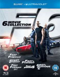 Fast and Furious boxset (The 6 Movie Collection) (Blu-ray) voor €20,35 @ Zavvi