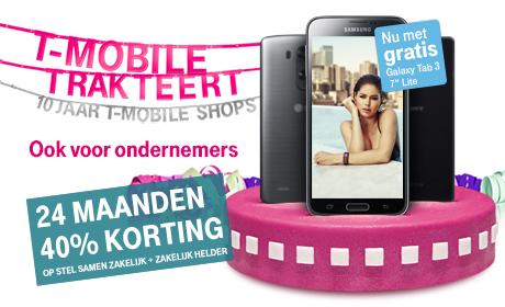 40% korting op abonnement bij LG G3 @ T-Mobile