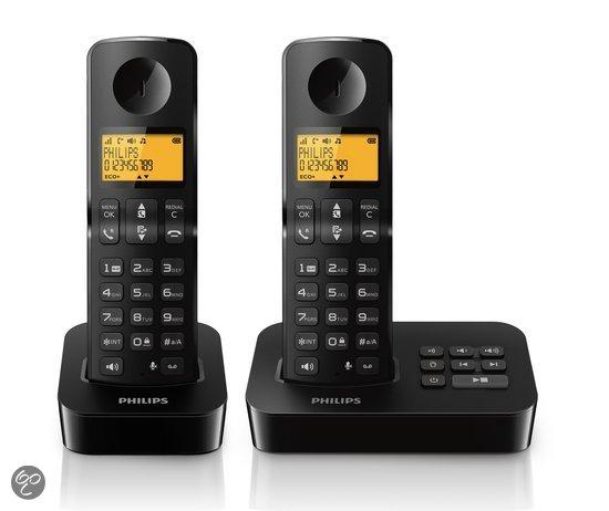 Philips D2152 Duo DECT telefoon voor € 39,99 @ Bol.com