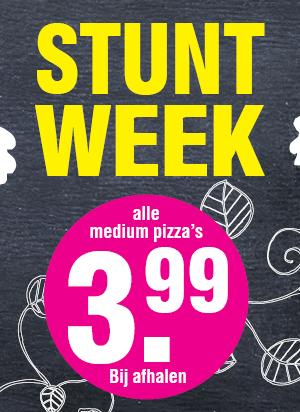 Alle medium Pizza's voor €3,99 (voor 16:00 €2,99) @ Domino's