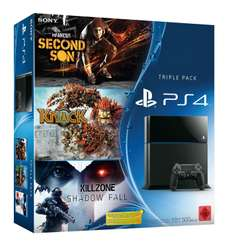 Playstation 4 + Killzone: Shadow Fall + Knack + Infamous: Second Son voor €405,70 + €20 korting op extra game @ Amazon.de