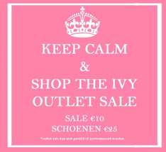 Alle fashion €10 - alle schoenen €25 @ Ivy Fashion
