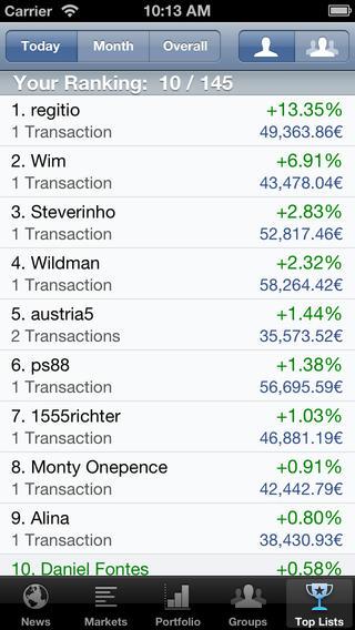 Best Brokers (Stock Exchange Game) t.w.v. €1,79 gratis @ App Store