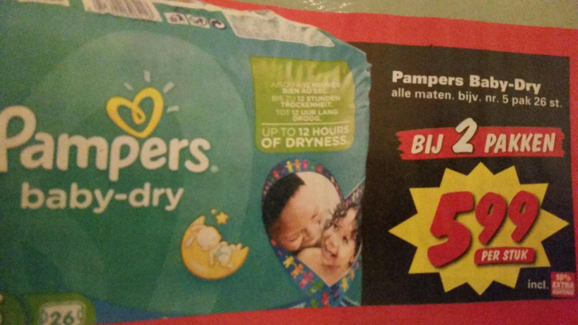 Pamper Bab-Dry alle maten voor €5,99 @ Nettorama