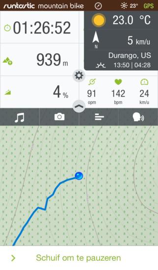 Gratis app Runtastic Mountain Bike GPS PRO Cycling Computer & Tracker t.w.v €4,99 @ App Store / Google Play