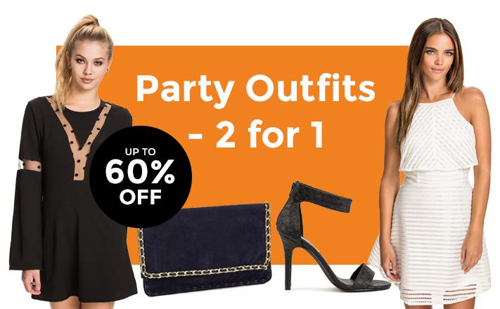 Partyjurken, schoenen en accessoires - tot -60% korting + 2e GRATIS @ Members