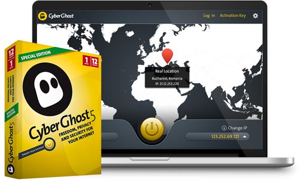 6 maanden gratis CyberGhost 5 Special Edition (VPN)