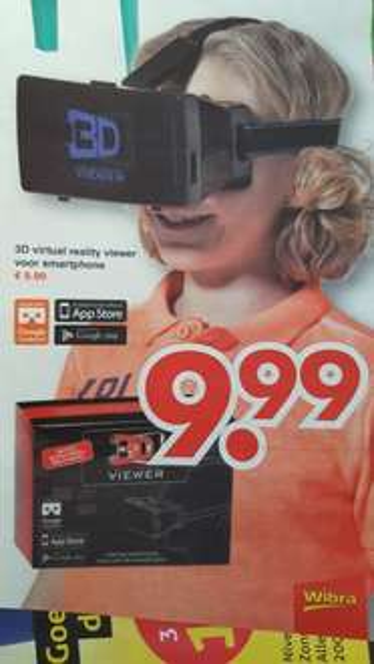 3D Virtual reality viewer €9,99  @wibra