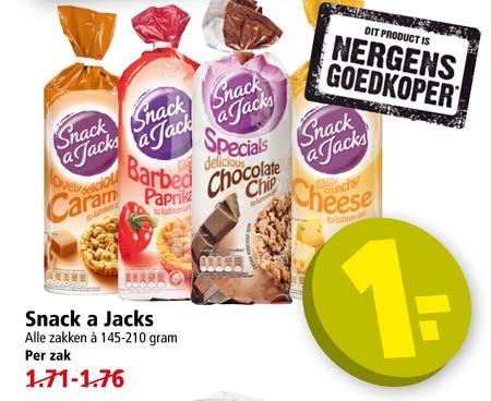 Zak Snack a Jacks voor €1 @ PLUS