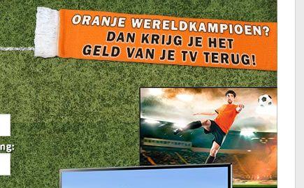 Nederland wereldkampioen? Aankoopbedrag van tv bij Media Markt terug!