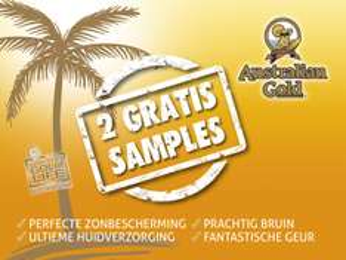Twee GRATIS Australian Gold zonnebrandcrème samples