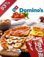 Voucher voor een pizza naar keuze  + blikje fris + side dish naar keuze voor €1 @ Domino's Vlissingen en Goes