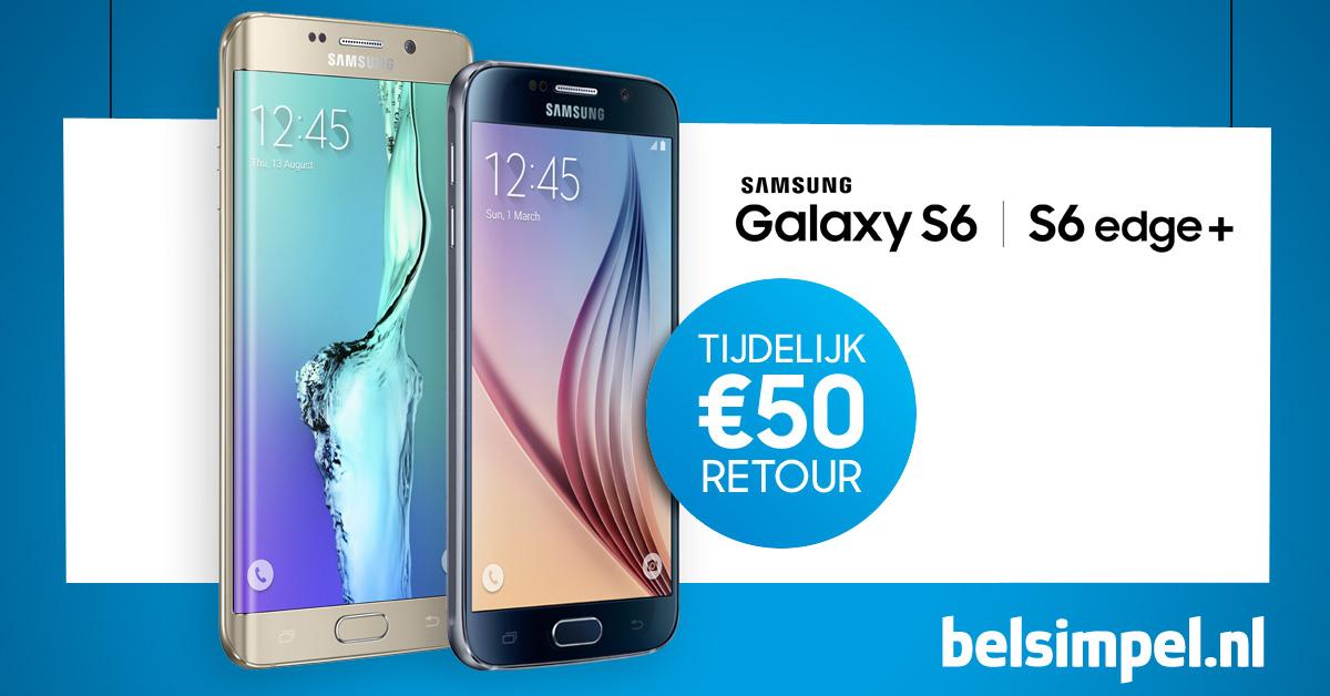 50 euro cashback op Samsung Galaxy S6 & S6 Edge @Belsimpel