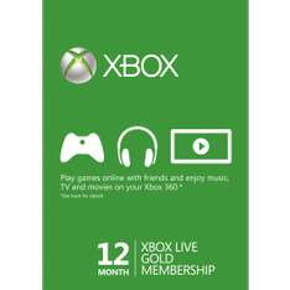 12 maanden Xbox Live Gold voor €28,53 @ CDKeys